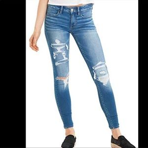 American Eagle Distressed Skinny Leg Denim Jeans